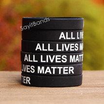 Fifty (50) ALL LIVES MATTER Silicone Wristband in Adult or Child Size - $38.88