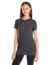 XL Soffe Junior Women's Tri-Blend Tee Shirt T-Shirt Short Sleeve Black New