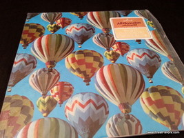 Hot Air Balloon Wrapping Paper Sheet Gift Book Cover Birthday Decoration Blue x2 - $12.82