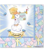 PRECIOUS MOMENTS Party Decoration NAPKINS Confirmation Blue Religious Angel Kids - $9.85