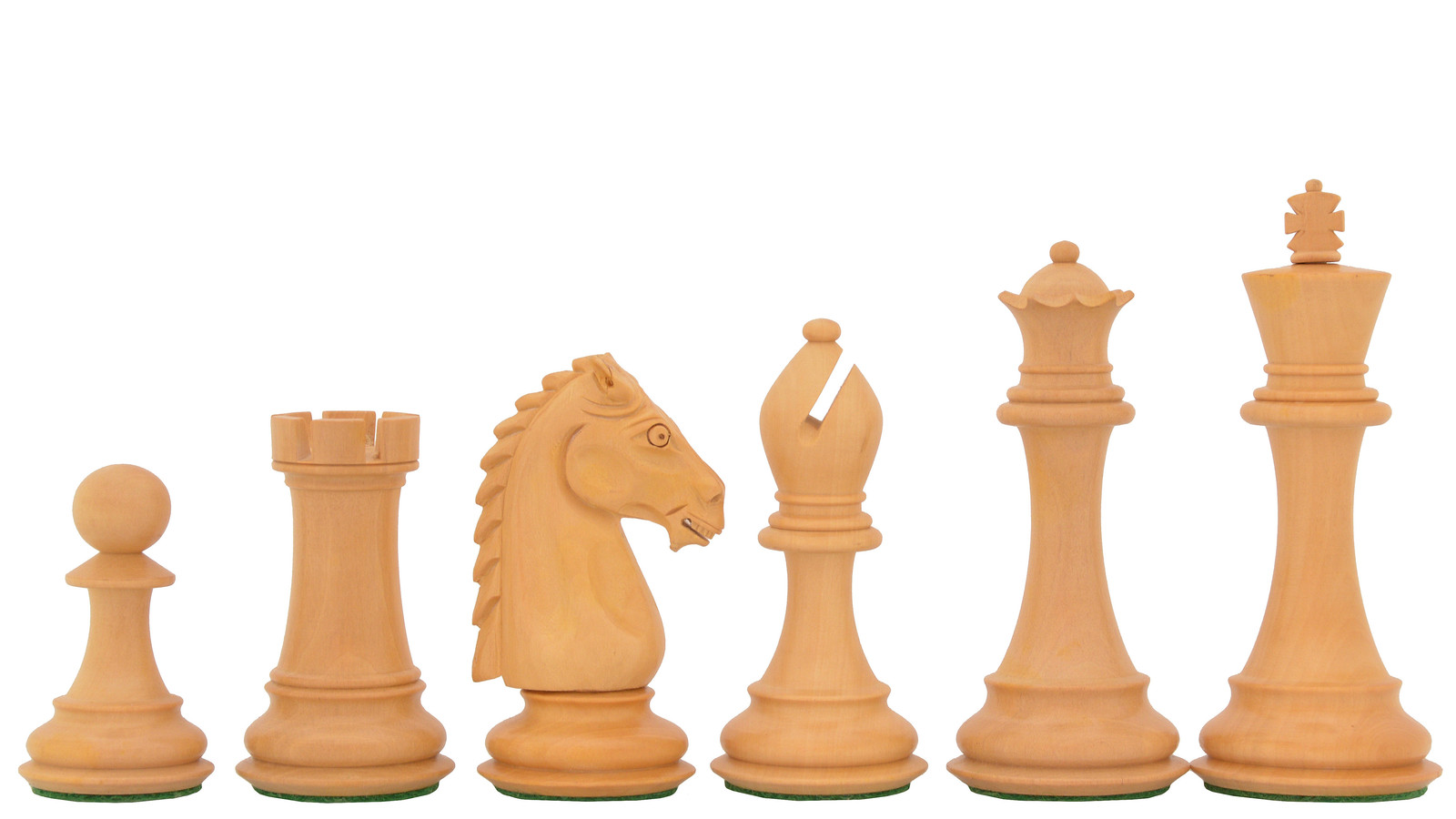 "Staunton Club Chess Pieces Red Sandal in Bud Rose/Box Wood - 4.8"" King-SKU:M0025"