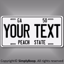 Retro Vintage 1950 Georgia Personalized Your Text Aluminum License Plate... - $14.84