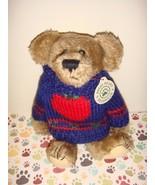 Boyds Bears Dexter Bear With Apple Sweater - $15.49