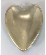 """Nambe Heart Shaped Sweetheart Bowl Dish 8.5"""" #118B Matte Finish - $37.24"""