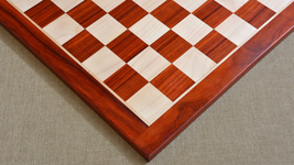 """Wooden chess board in Bud Rose Wood from India 23"""" - 60 mm squares. SKU: D0140 - $338.99"""