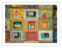 """Lilly Geometric Textile Art Series Print """"Loose Ends, One"""" by artist She... - $24.97"""