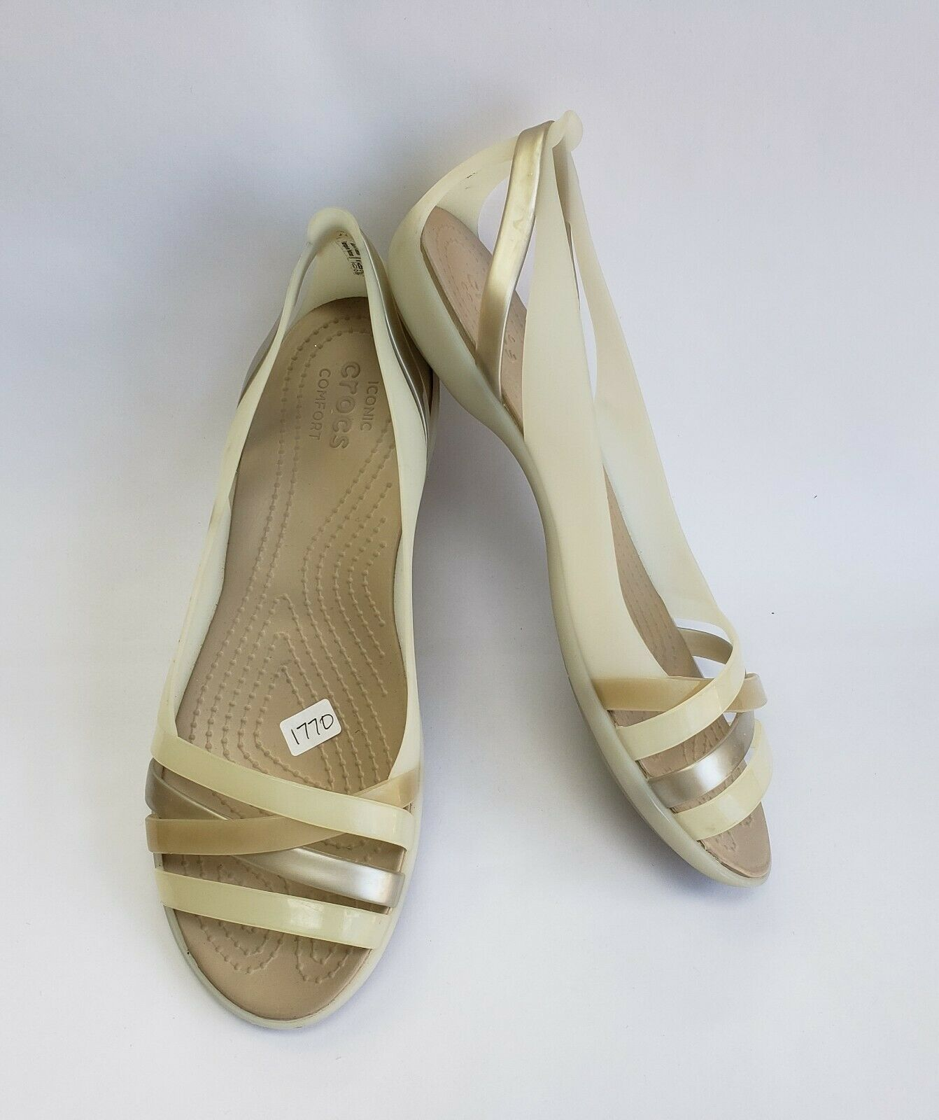 5b79a7735f4 Crocs Shoes Sandals Strappy Oyster Pearl and 50 similar items