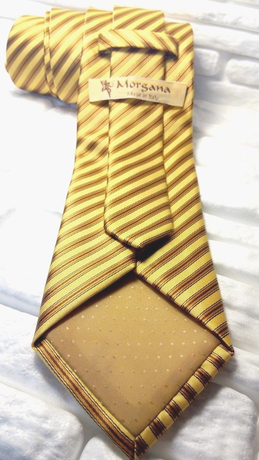 Necktie ,Top Quality , Made in Italy , NEW , 100 % silk , handmade  Morgana image 4