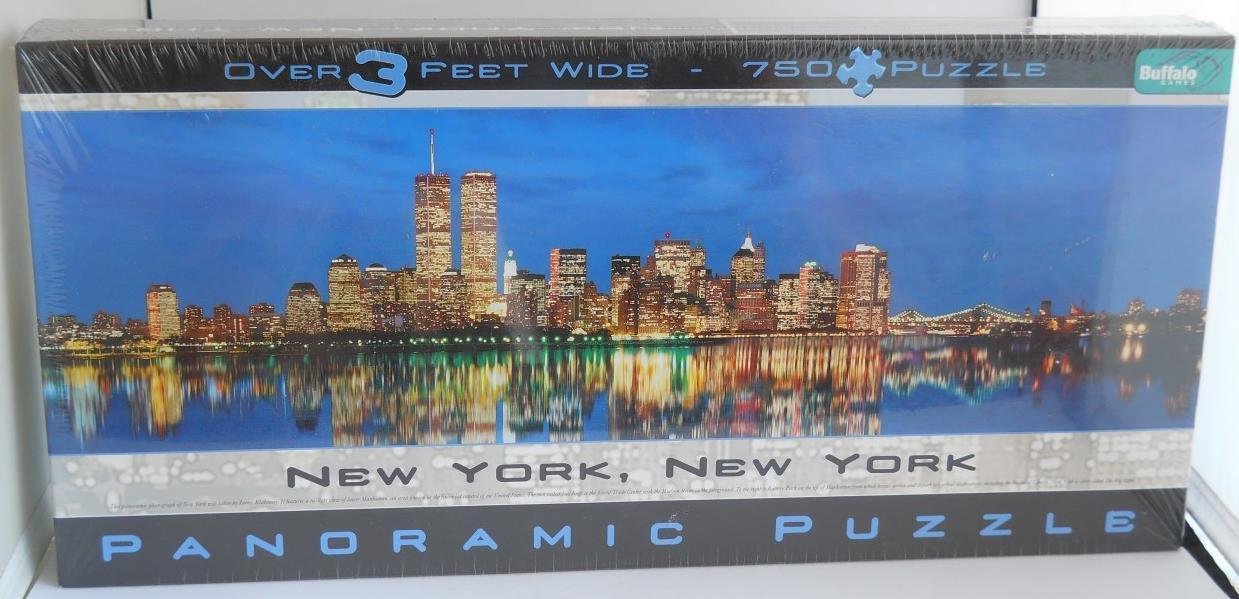 Primary image for Buffalo ~ New York Manhatton Skyline w/ Twin Towers ~ Panoramic ~ 750 PC Puzzle