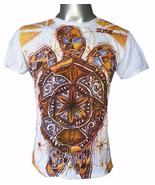 Yoga Men T Shirt turtle tortoise sea nature ocean freedom om M tribal lo... - $12.86