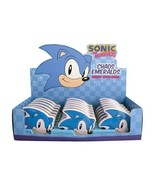 Sonic the Hedgehog Chaos Emerald Sours in Shaped Embossed Metal Tin NEW ... - $6.89