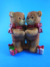 """1979 Rigglets Enesco Lucy & Me Figurine of  Hugging Bears w gifts 3.5"""" p... - $6.72"""