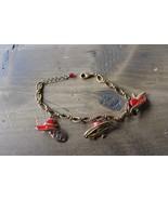 7 - 8 inch Avon Red Hat Society Charm Bracelet - $8.90