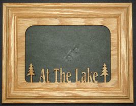 """At the Lake"" Oak Wood Photo Insert and Picture Frame size 5x7 - $31.95"
