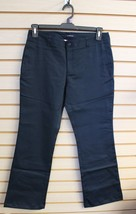NEW LANDS END GIRLS JUNIORS SIZE 7 NAVY BLUE SCHOOL UNIFORM PANTS CHINO ... - $9.74