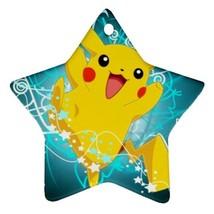 Star Ornaments - Anime Pokemon Star Procelain Ornaments Christmas  - $3.99