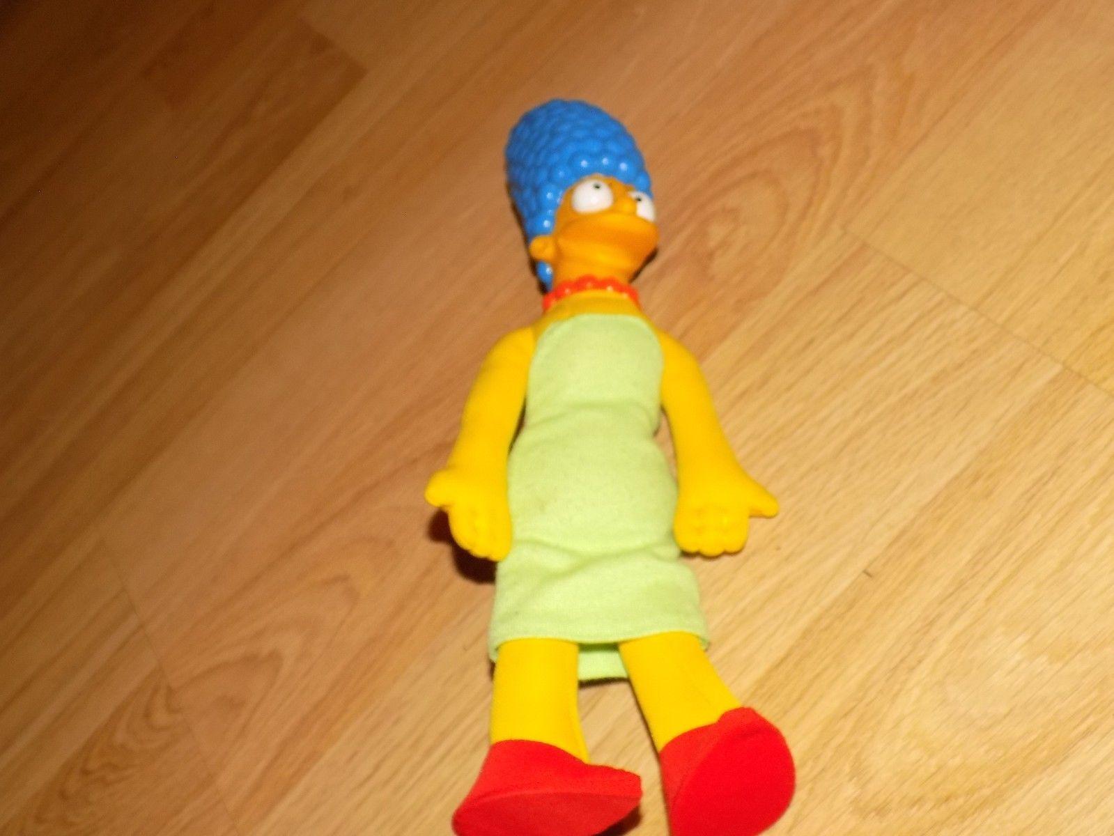 "Vintage 1990 The Simpsons Female Mom Marge Simpson Plush Doll Vinyl Face 12"" EUC"