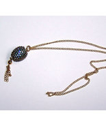 Jewelry Swarovski Blue Zircon Crystal Finch Egg... - $15.00