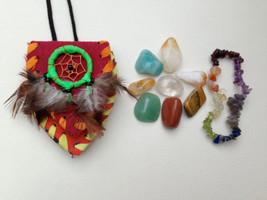 Prosperity & Abundance Crystal Healing Pouch Plus Chakra Bracelet. Amazonite, Av - $24.50