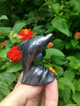 HEMATITE CARVED DOLPHIN!! Stunning Beautiful, Top Quality Hematite - $28.00