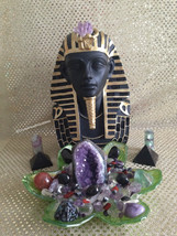 Crystal Altar Kit Egyptian Inspired Design. Protective Crystals Positive Energy - $218.00