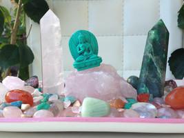 GORGEOUS LOVE Rose Quartz Crystal House Kit *Breathtaking LOVE ceramic plate des - $160.00
