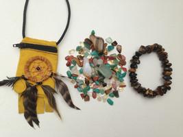 Prosperity & Abundance  Crystal Healing Pouch + Gorgeous Tiger Eye Bracelet. Ama - $28.00