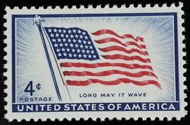 1957 4c 48 Star U.S. Flag, Long May It Wave Scott 1094 Mint F/VF NH - $0.99