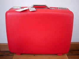 Vintage American Tourister Lipstick Red Hardshe... - $67.99