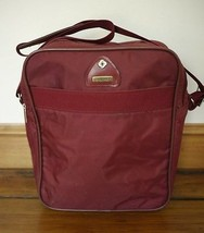 "Vintage 1970s SAMSONITE ""Amherst"" Burgundy Nylon Vinyl Travel Carry-on B... - $25.49"
