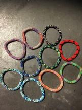 10 SET Nepal Rolls Glass Beaded bracelet crochet handmade bead bangle USA - $25.26