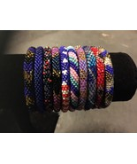 10 SET Nepal Rolls Glass Beaded bracelet crochet handmade bead bangle USA - $25.29