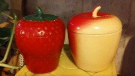 Vintage Hazel Atlas Strawberry Jam Jelly Jar Co... - $9.50