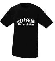 Drumolution The Evolution Of The Drummer T-shirt Small Black - $16.95