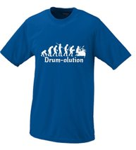 Drumolution The Evolution Of The Drummer T-shirt Small Blue - $16.95