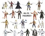 "Star Wars The Force Awakens Black Series 6"" Action Figures Complete Set 1-21 TFA"