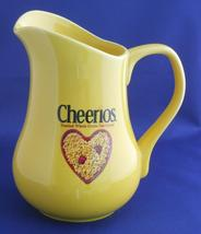 Cheerios Brand Cereal ~ Yellow Ceramic Pitcher by General Mills ~ Advert... - $24.95
