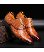 Merkmak Luxury brand PU Leather Fashion Men Business Dress Loafers Point... - $136.50+