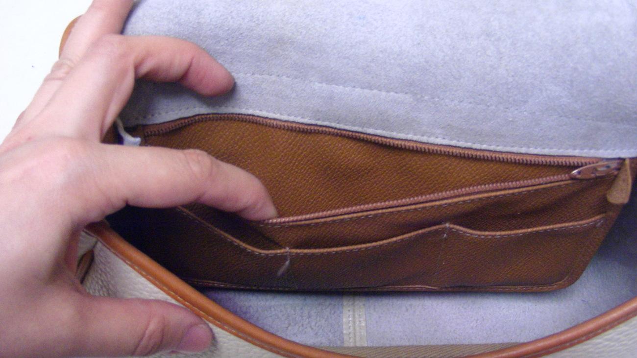 Dooney & Bourke Brown Light Beige All Weather Leather Cross Body Shoulder Bag