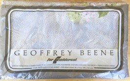 NEW NOS Vintage Geoffrey Beene Fieldcrest TWIN FITTED BED SHEET - Gray F... - $34.16