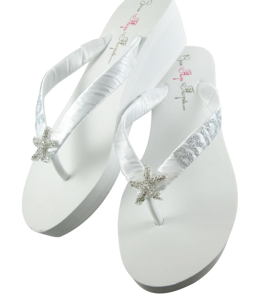 754a08e1d6f0b Jade Glitter Starfish Bride Flip Flops, and 50 similar items