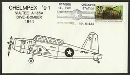 Vultee A-35A-World War II 50th Anniv. Chelmpex '91 [1] **ANY 4=FREE SHIP... - $1.00