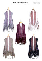 Women's Aztec Pattern Knitted Tassel Vest Ponch... - $28.95