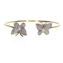 Véritable 1.32ct Naturel Déguisement Rose Diamants Bracelet 18K Uni Papi... - $4,044.59