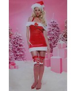 Leg Avenue Size L (12/14) Women Christmas Off Shoulder Halter Mini Dress... - $35.99