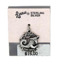 VINTAGE BEAU BEAUCRAFT STERLING SILVER TAURUS CHARM - $14.03