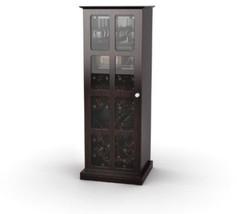 Atlantic 94835842 Windowpane 24 Wine Cabinet In Espresso - $167.83