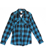 Blue Black Plaid Flannel Harley-Davidson Shirt ... - $69.99