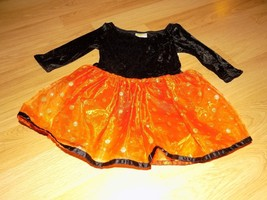 Size XS 4 Crazy 8 Black Orange Dance Tutu Leotard Halloween Costume Dres... - $15.00