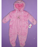 Carter's Infant Bunting Baby Girl One Piece Soft Velour Fleece 3-6 mo. pink - $37.86